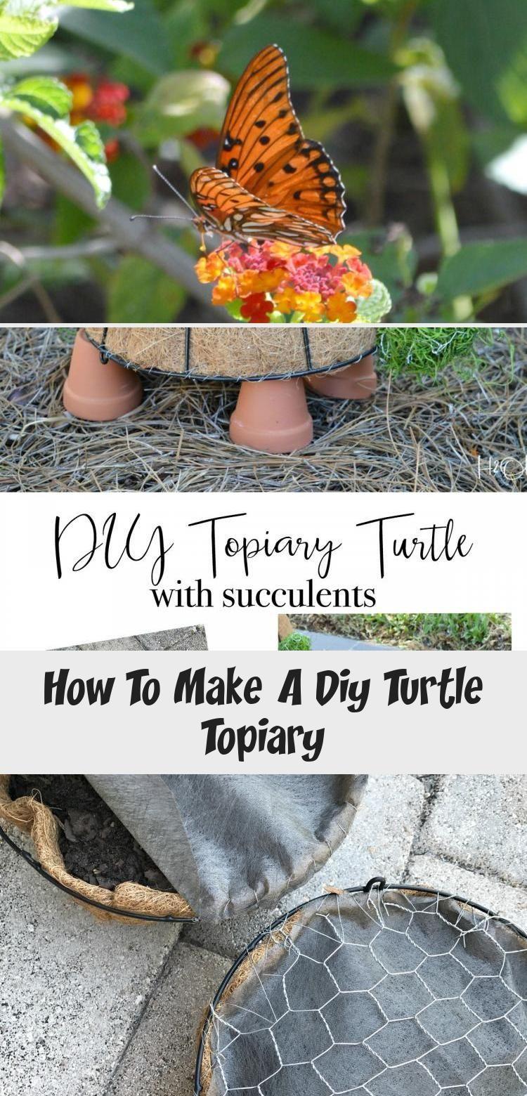 En Blog - En Blog -  Wie erstelle ich ein DIY Turtle Topiary Tutorial aus einfachen Dollar Store und Hardware-Artikeln.  - #Blog #diygardendecordollarstores #gardendiydecor #gardenplanting