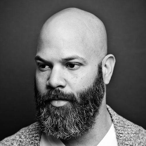 Bald beard hair mustache shave shaved transformation