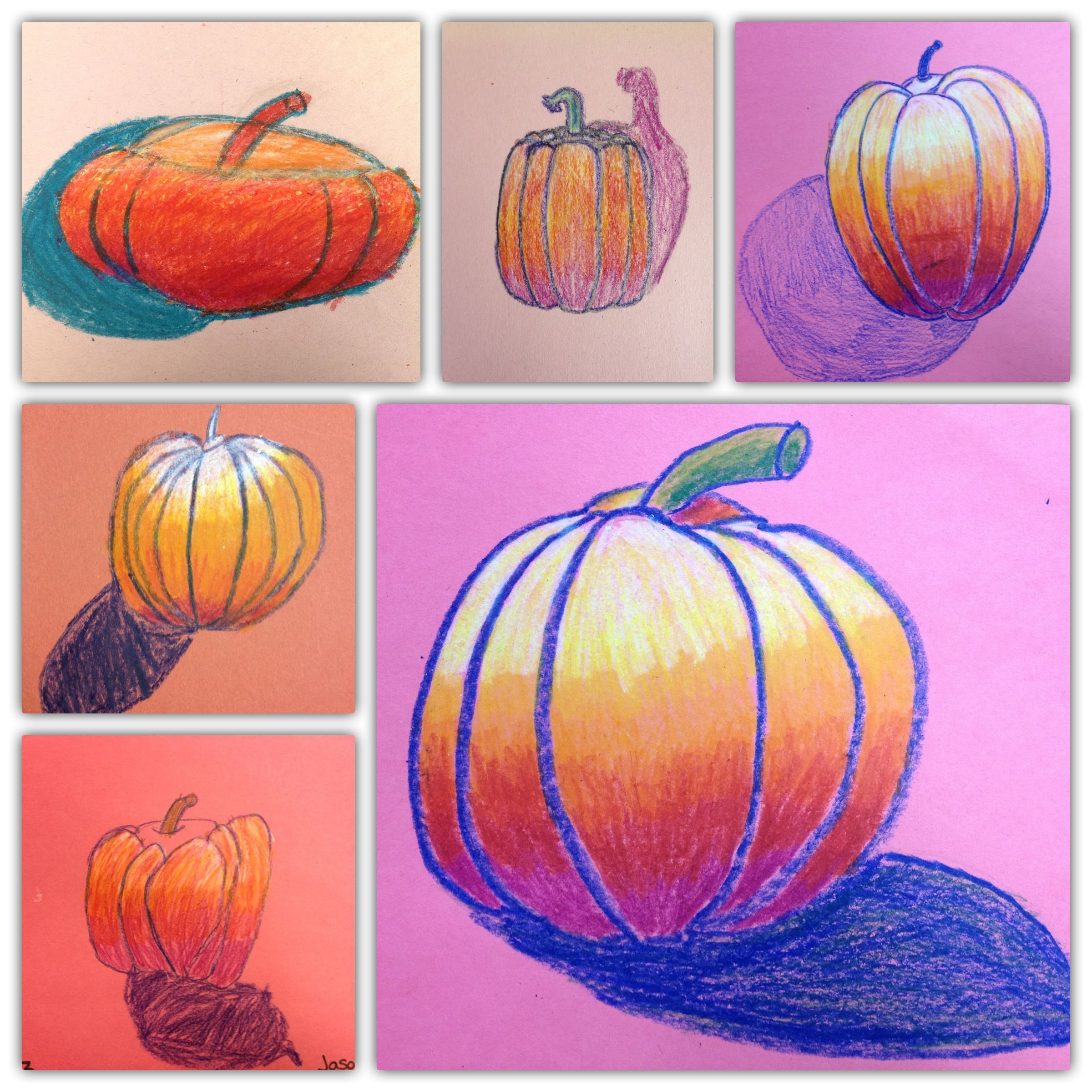 Third Grade 2 Fall Or Thanksgiving Art Lesson Drawing