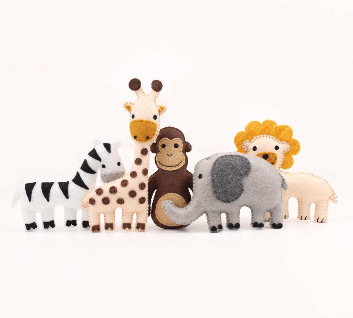 5 Mini Jungle Animals | deco baby | Pinterest | Bebe