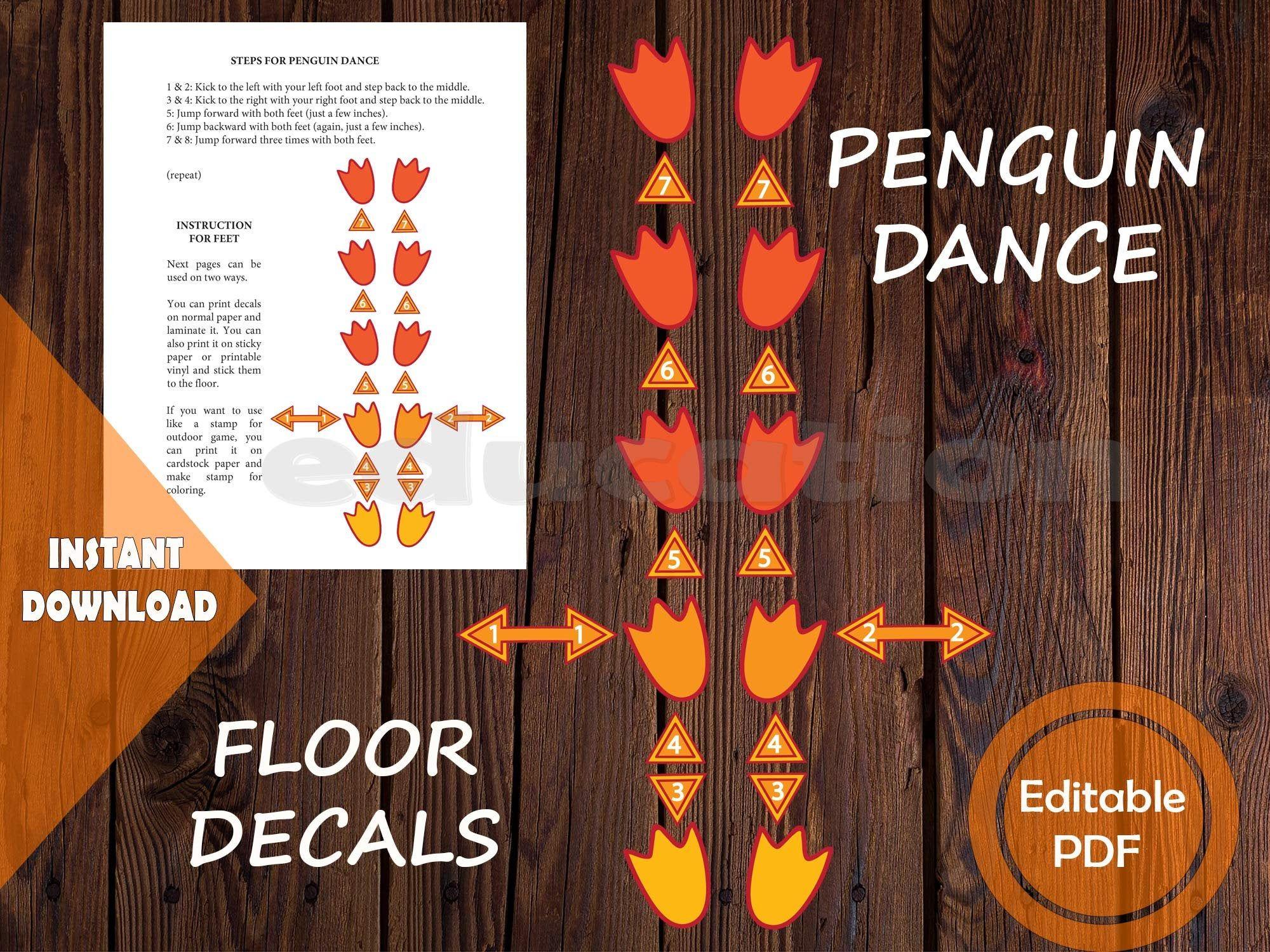 Penguin Anatomy Poster And Sensory Path Printable