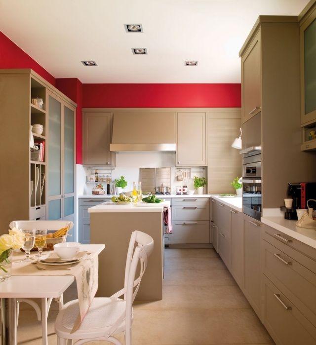 Peinture cuisine avec meubles blancs - 30 idées inspirantes