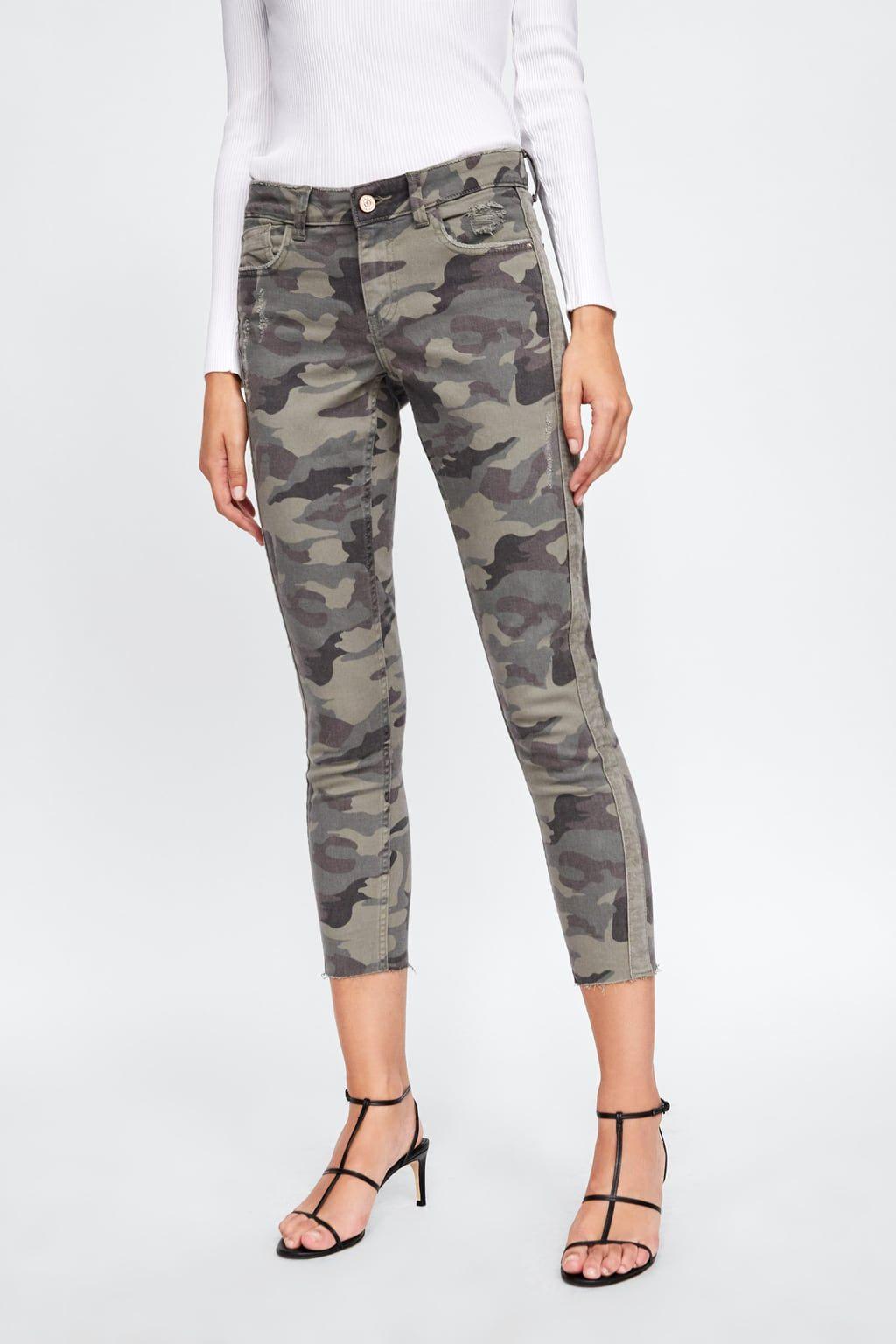 pantalones camufkaje zara