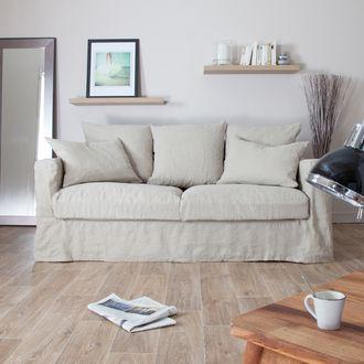 canap en lin froiss d houssable assise plumtex julia meubles pinterest canap en lin. Black Bedroom Furniture Sets. Home Design Ideas