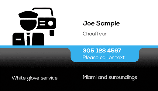 Personal Driver Business Cards Free