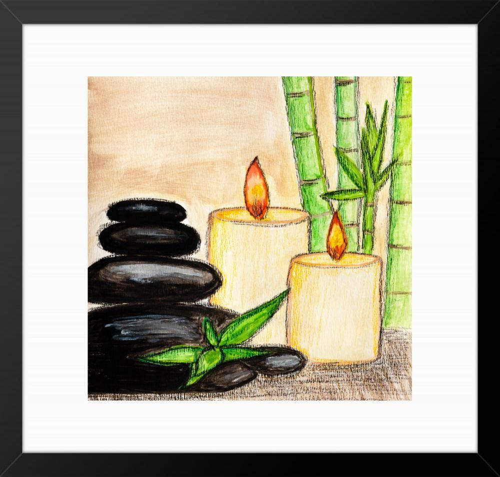Watercolour wall art,Spa wall art,Stone Zen modern,relaxing wall art ...
