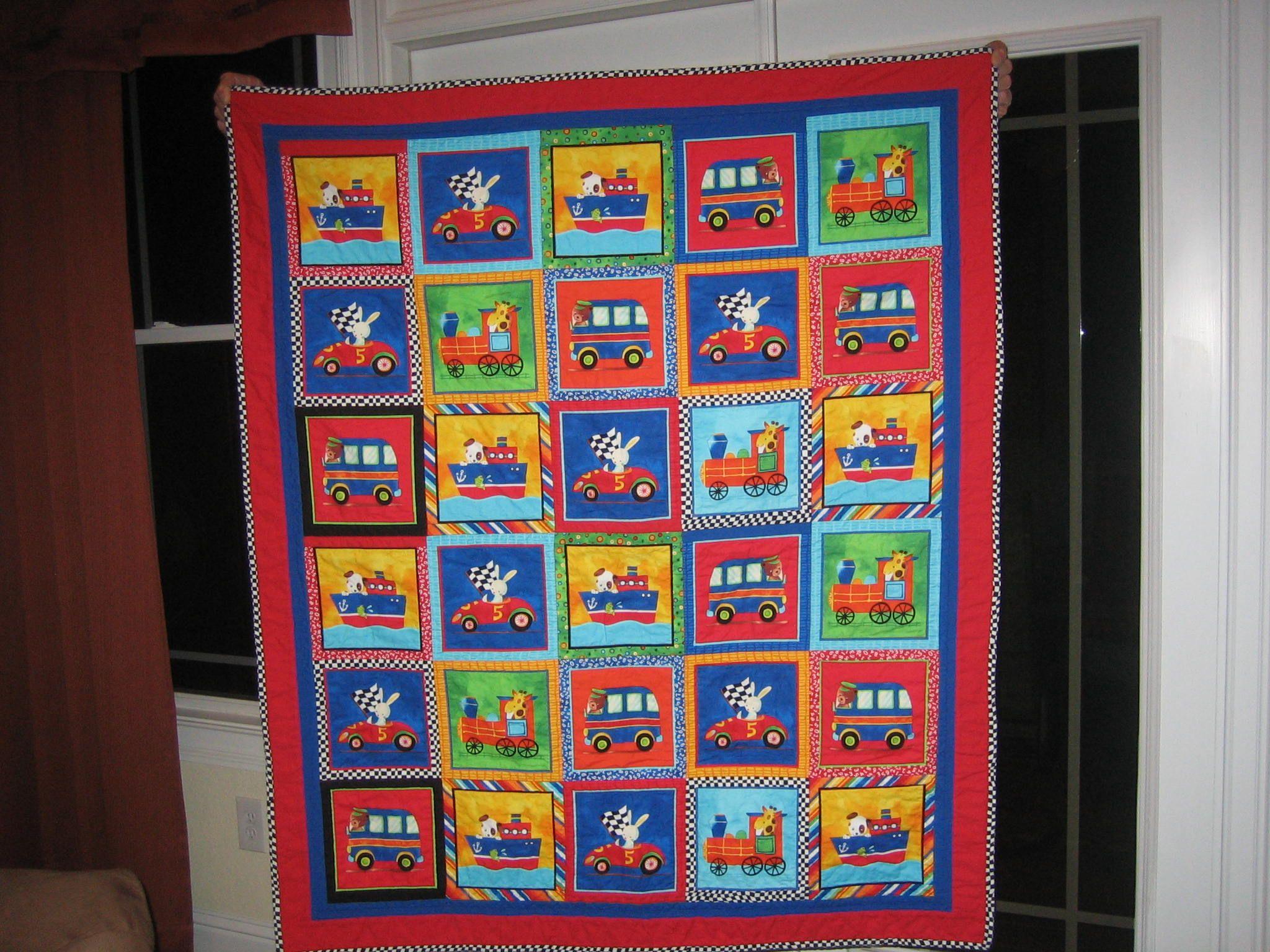 Transportation Quilt I made for my Grandson, Hudson