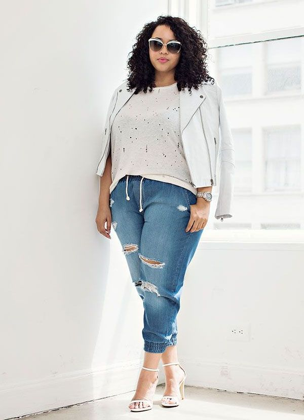 c9d6dd6e8c plus-size-street-style-destroyed-denim-shirt