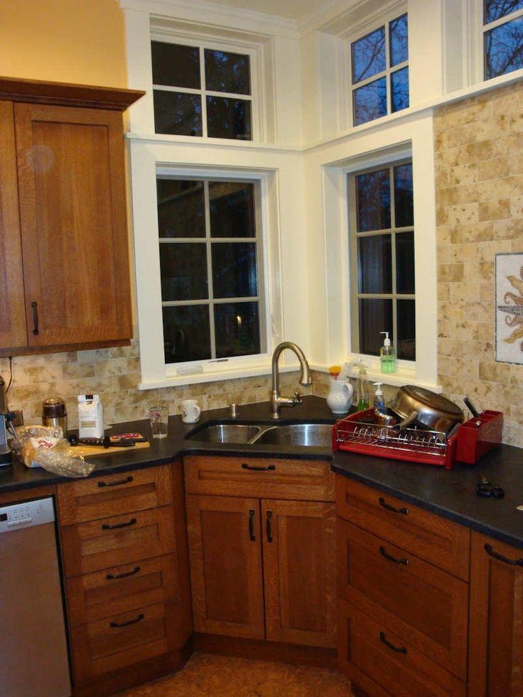 25 Cool Corner Kitchen Sink Designs [Best Ideas With