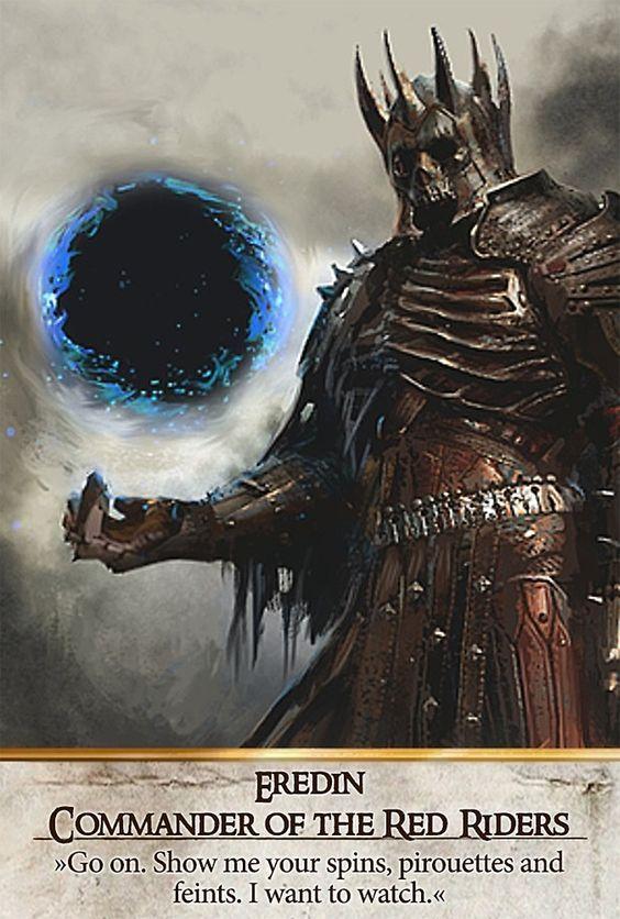 Eredin Commander Of The Red Riders Gwent Card The Witcher 3 Wild Hunt The Witcher Dark Fantasy Art Witcher Art