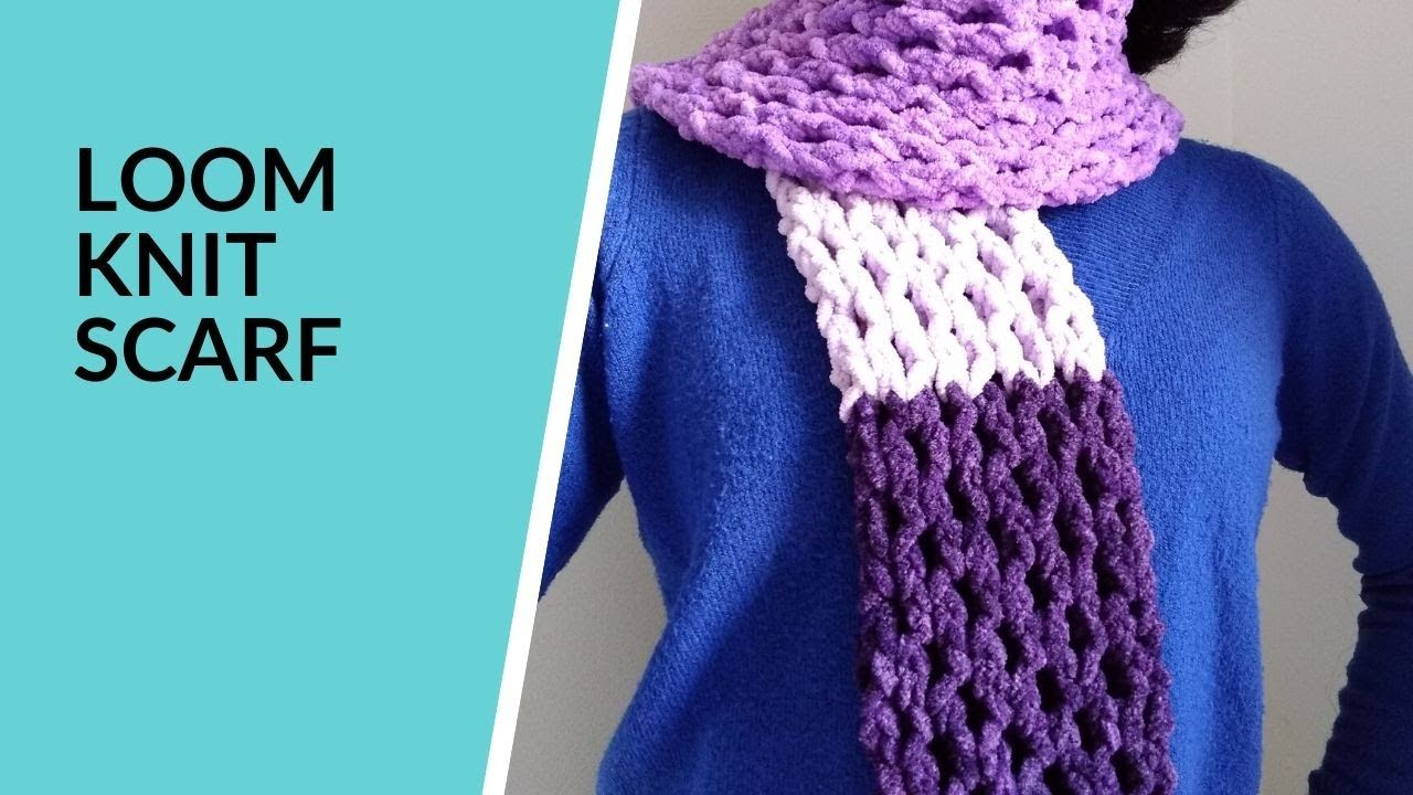 Photo of Loom Knit Honeycomb Stitch Scarf | Double Knitting