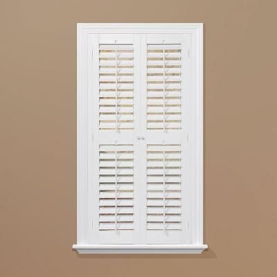 Exceptional HOMEbasics Plantation Faux Wood White Interior Shutter | From $45