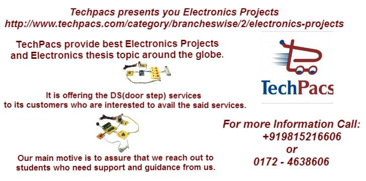 TechPacs provide best Electronics Projects and Electronics thesis ...