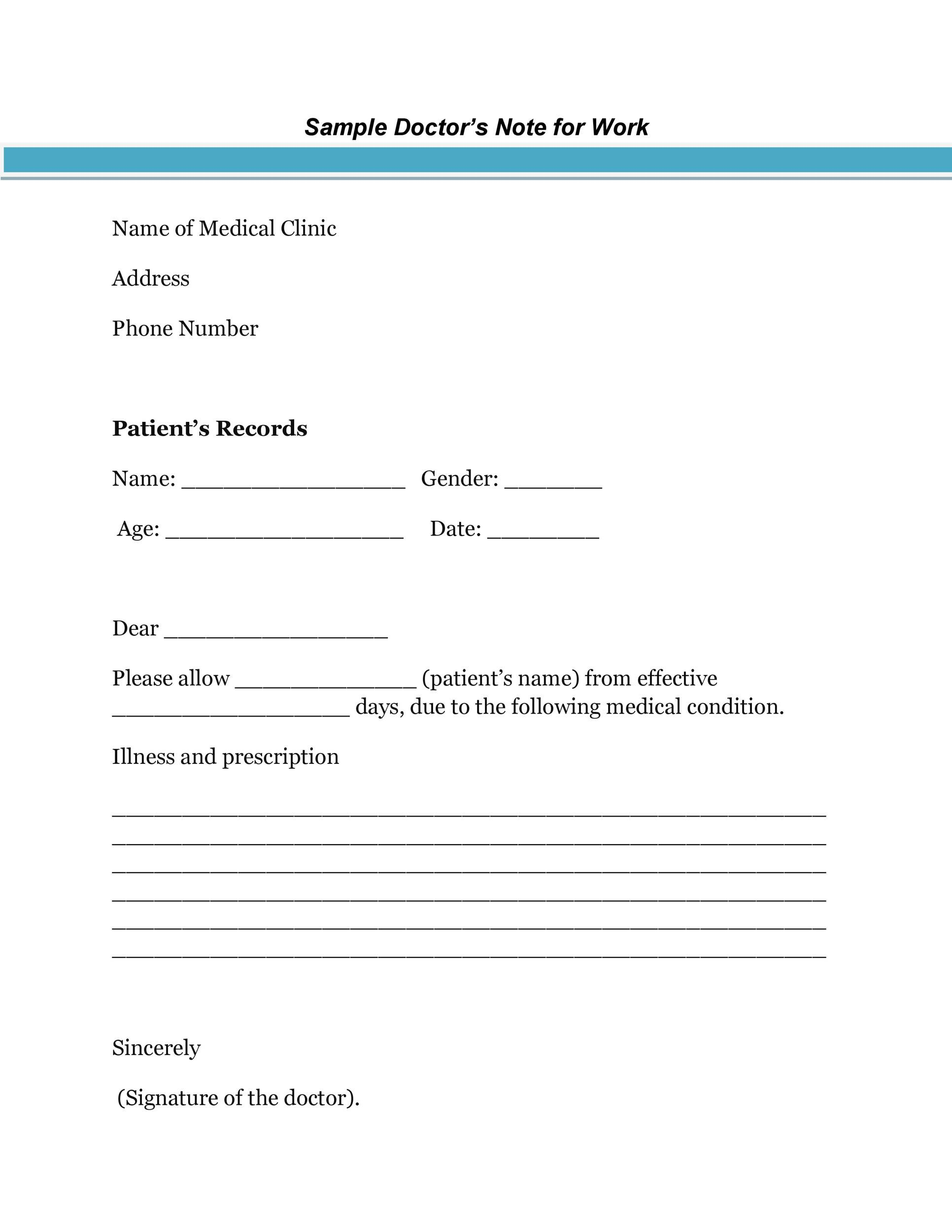 Doctor Excuse Template For Work Best Of Doctor S Note Templates 28 Blank Formats To Create Mar Doctors Note Template Dr Note For Work Doctors Excuse Template