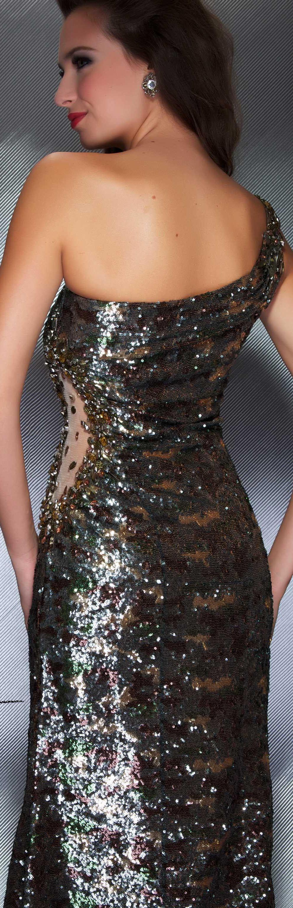 Glitter Camo Prom Dresses