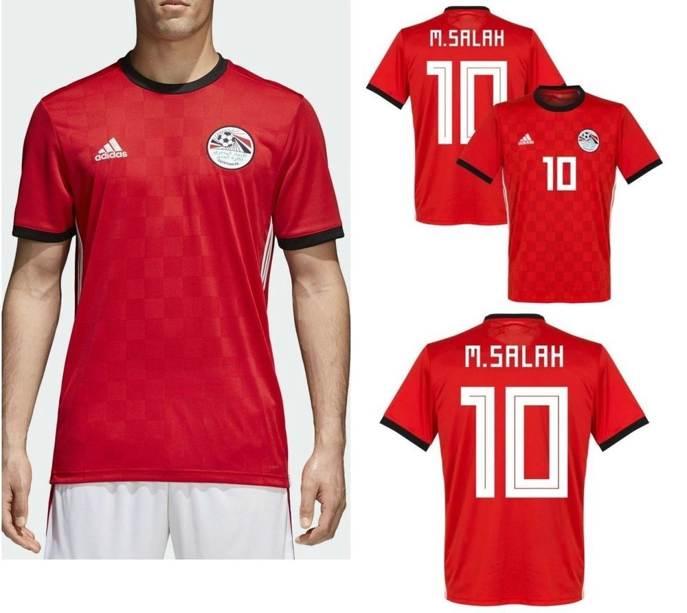 3a8d575d6ca kit football Mohamed Salah Egypt red soccer Jersey  10 Mohamed Salah 2018  world  adidas