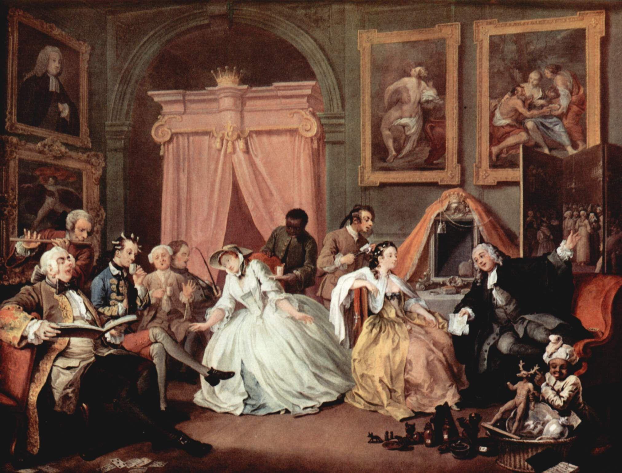 Marriage A La Mode Iv The Toilette C 1743 Oil On Canvas