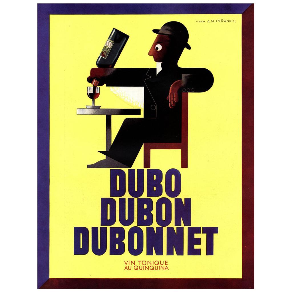 #VintageBeginsHere at www.rubylane.com---  Original French Vintage Alcohol Advertisement Print