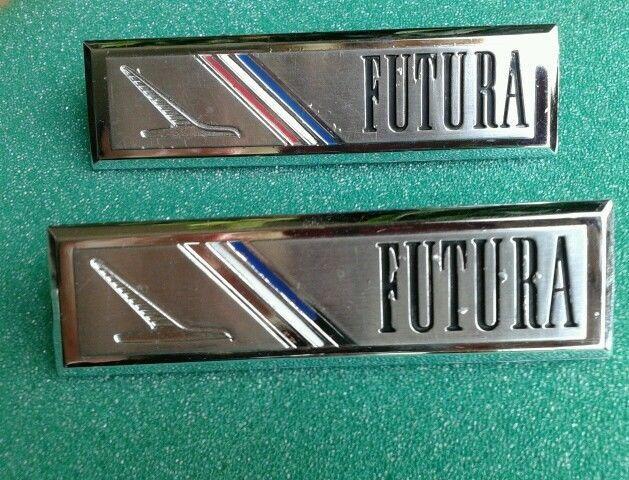 1964 1965 Ford Falcon Futura Original Set Interior Door Panel Emblems Fomoco Ford Panel Doors Doors Interior Ford Falcon