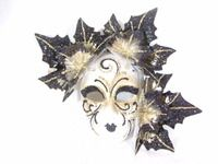 Black Ceramic Foglia Mask  stores.venicebuysmasks.com