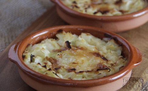 puerros gratinados con queso de cabra