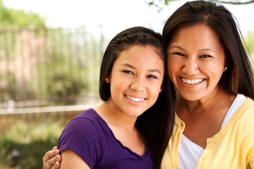 Asian mothers and daughters