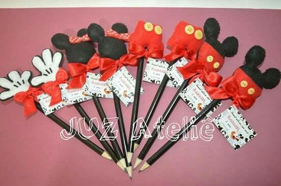 Ponteira do Mickey em feltro!