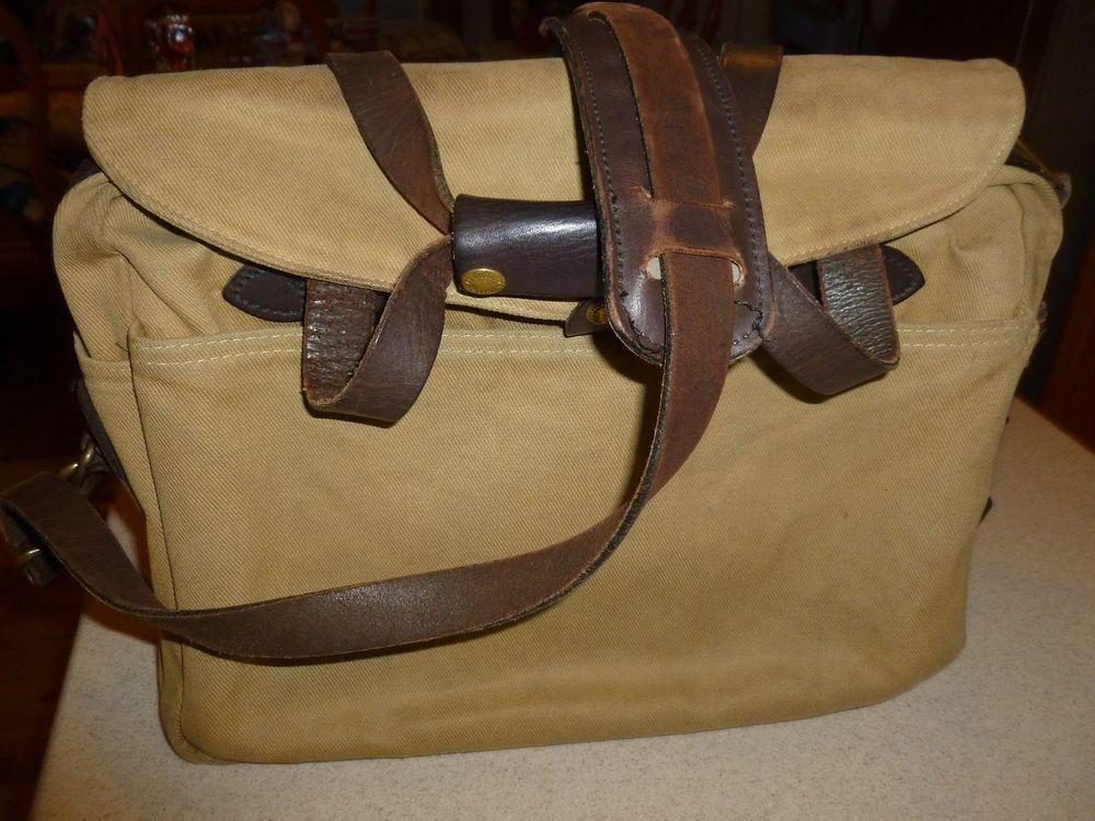 Filson Rugged Twill Original Briefcase 70256 Laptop Bag Tan Style 11070256