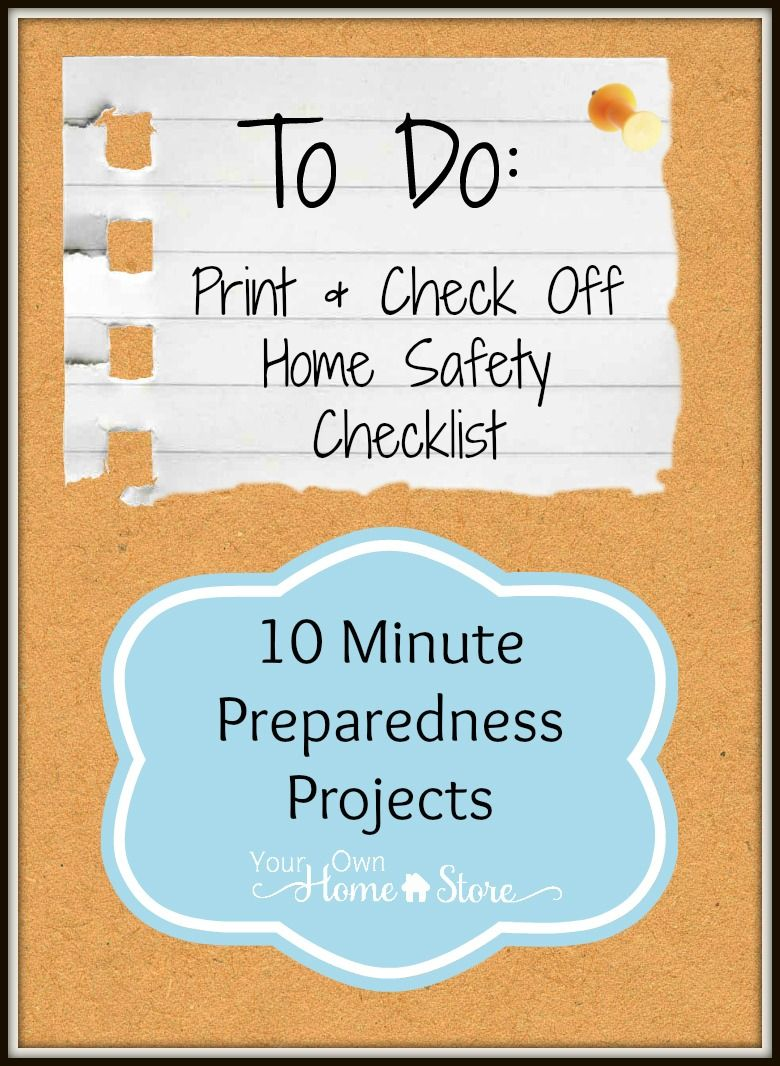 Home Safety Checklist Home safety checklist, Safety