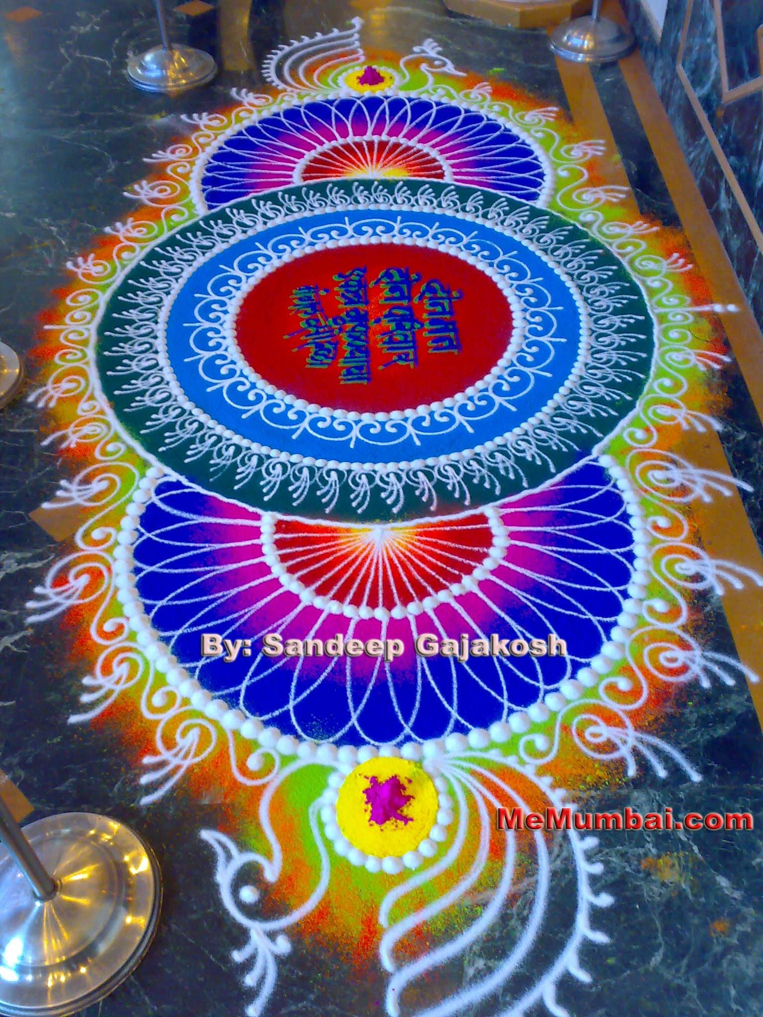 Poster design rangoli - 60 Beautiful And Easy Indian Rangoli Designs For Your Inspiration
