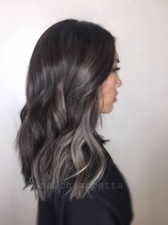 Image Result For Asian Subtle Navy Blue Hair Ponytail Hair Color Highlights Dark Brown Hair Color Brown Hair Balayage