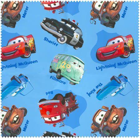 Disney Pixar Licenced CARS 100/% Cotton Fabric *Lightning McQueen*