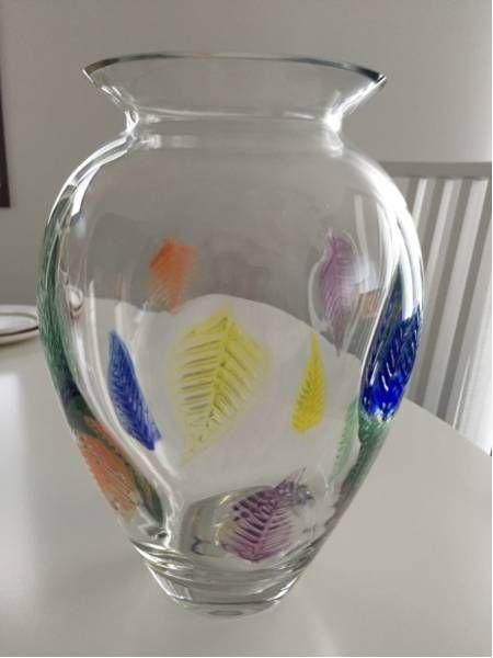 Dansk Designs Dansk Vase W Colored Leaves Pinterest
