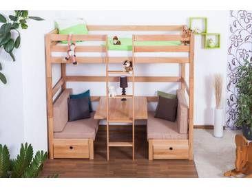 Etagenbett Kinder Umbaubar : Furnistad hochbett für kinder sky kinderhochbett mit treppe