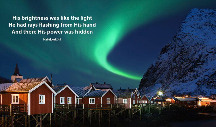 Northern Lights Aurora Borealis Over Traditional