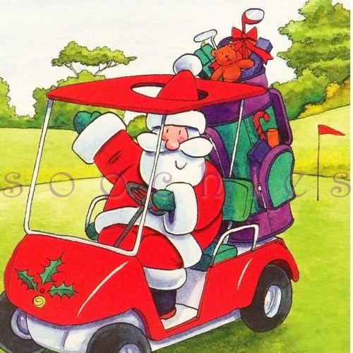 Santa Claus Clipart Golfing - Santa Claus Clipart Transparent Background -  Png Download (#3268437) - PinClipart