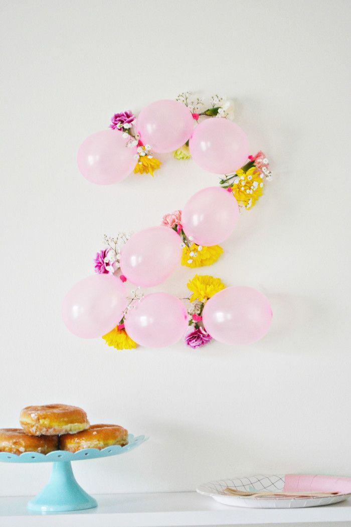 DIY Balloon Flower Numbers Decoracion de eventos, Eventos y Fiestas - decoracion de cumpleaos