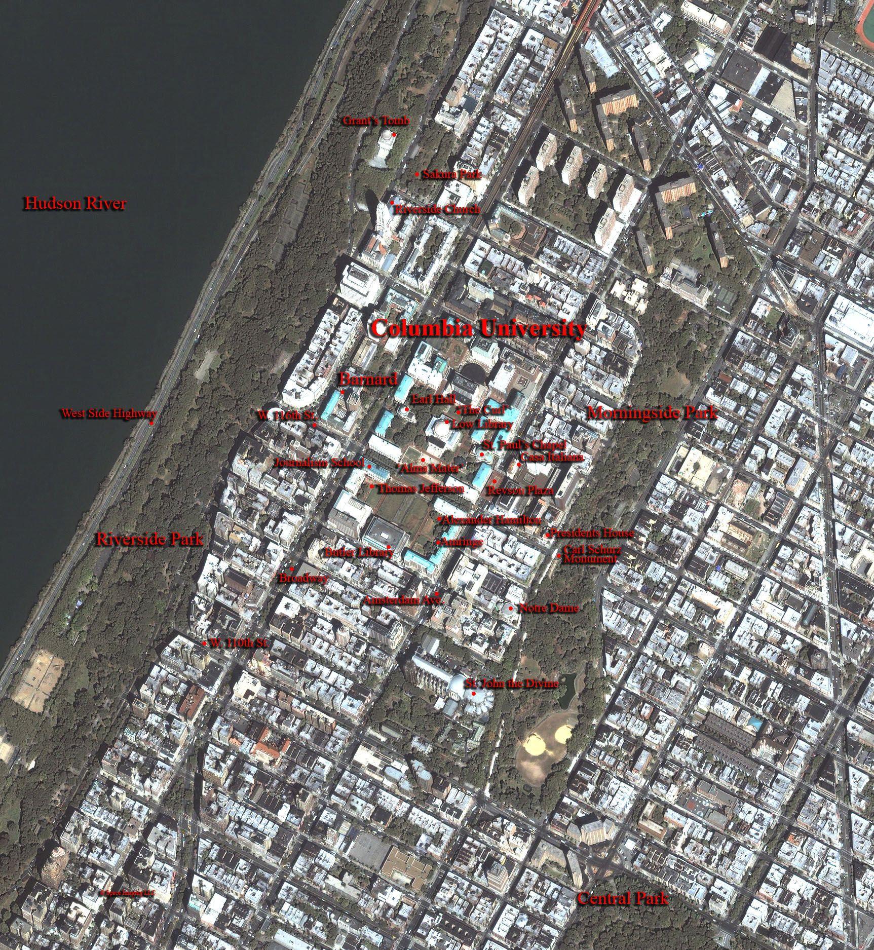 Columbia University and vicinity
