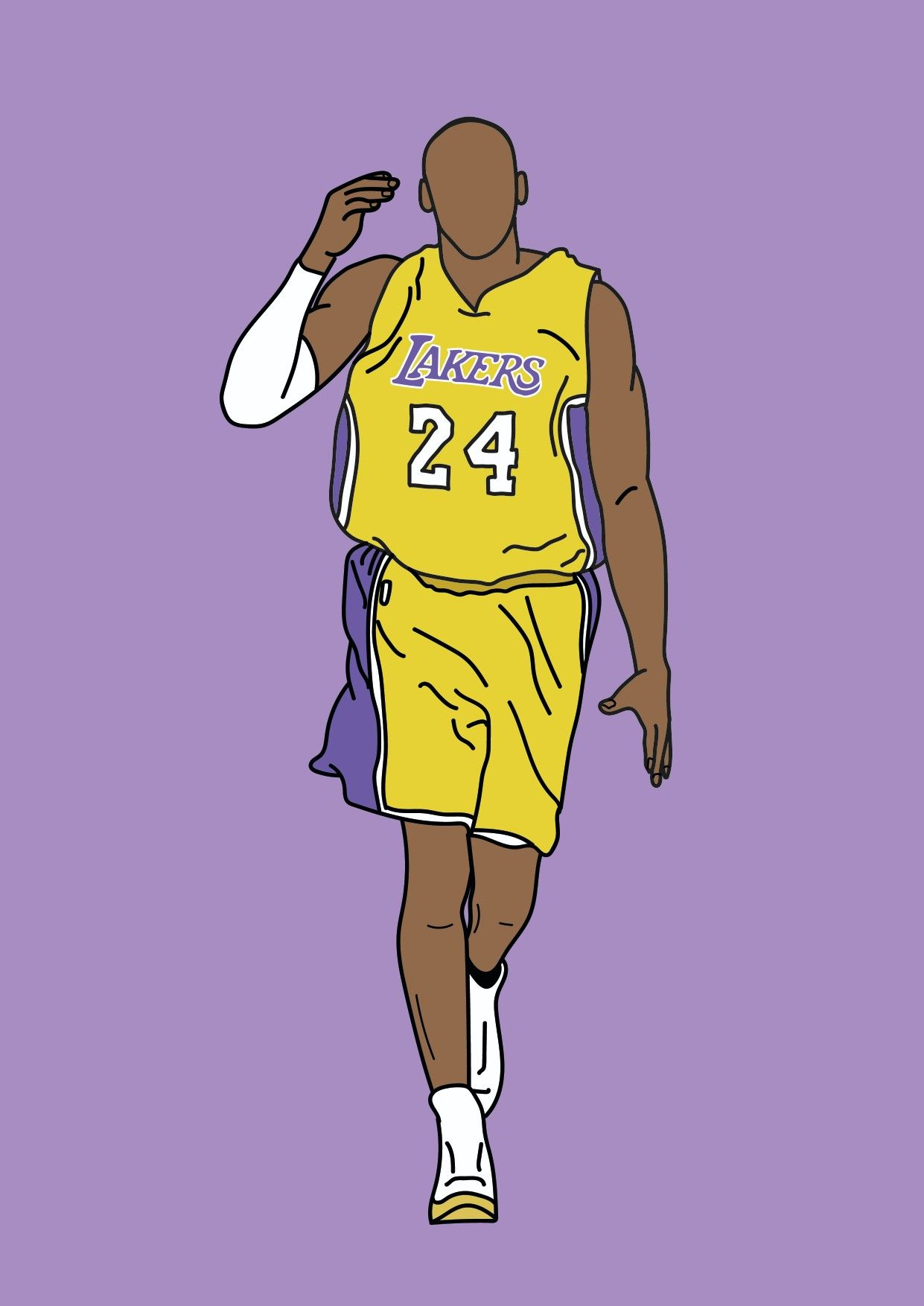 Kobe Bryant Lakers Drawing Kobe Bryant Wallpaper Kobe Bryant Pictures Kobe Bryant
