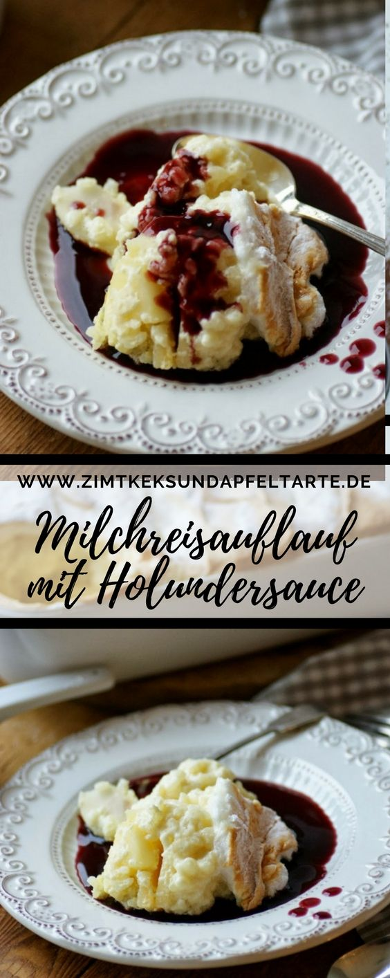einfaches rezept apfel milchreis auflauf mit holundersauce sweet dessert auflauf und. Black Bedroom Furniture Sets. Home Design Ideas