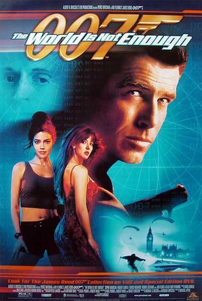 007 The World Is Not Enough 1999 Movie Poster 27x40 James Bond