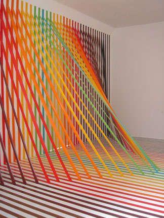 Rainbow Tape Art Paper Art Installation Tape Art Installation Art