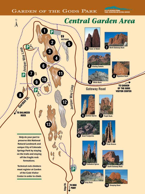 Garden Of The Gods Colorado Springs Map Garden of the Gods Map | Random in 2019 | Colorado, Colorado