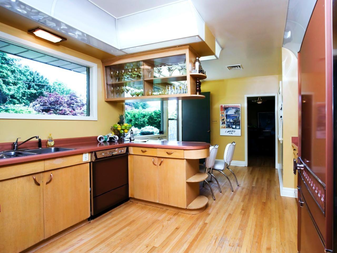 Küche Mit Anzeige Von Modern Mid Century Design