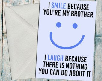 Funny brother/ sister birthday card | Happy birthday to my closest compatible organ donor