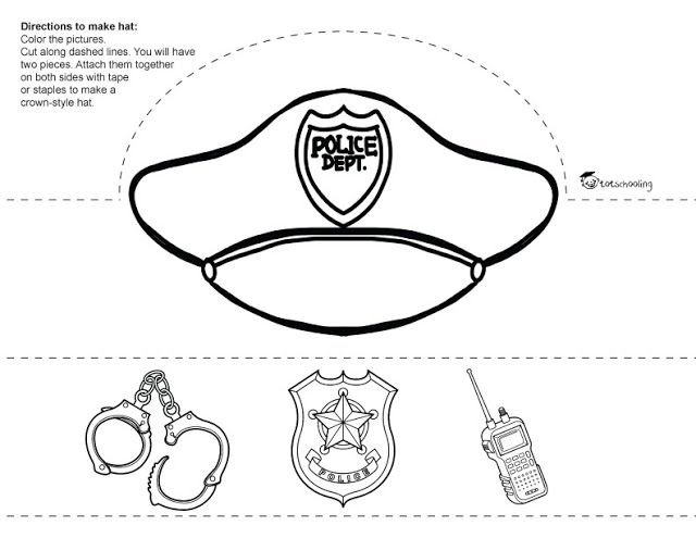 Community Helpers Printable Paper Hats Community Helpers