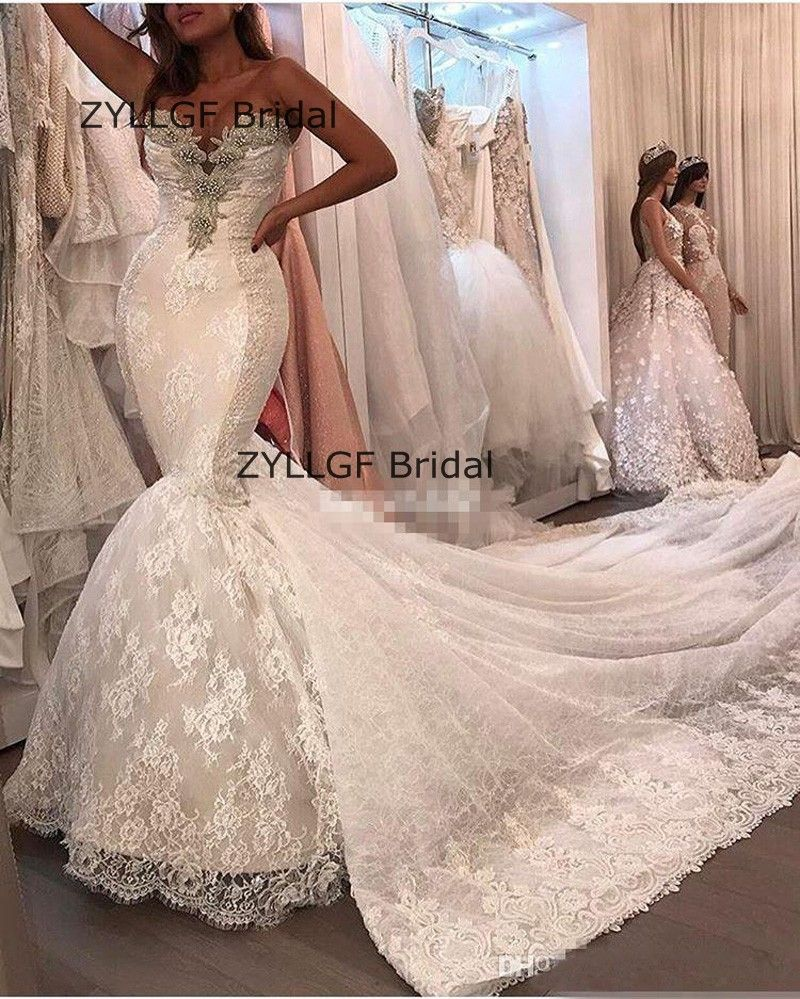 Click to buy ucuc zyllfg bridal fishtail sweetheart beaded greek style