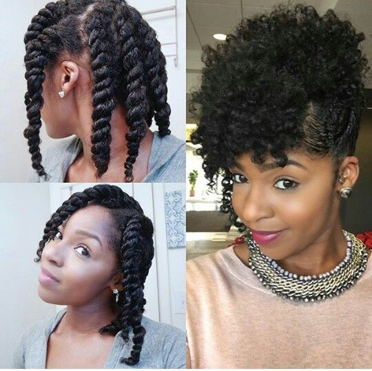 Chunky Twist Updo Natural Hair Styles Easy Hair Styles Natural