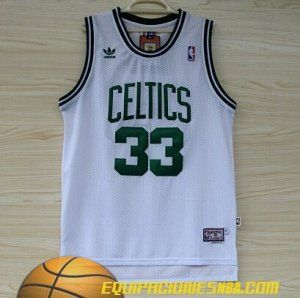 adidas camiseta nba baratas boston celtics bird 33 blanco malla pano
