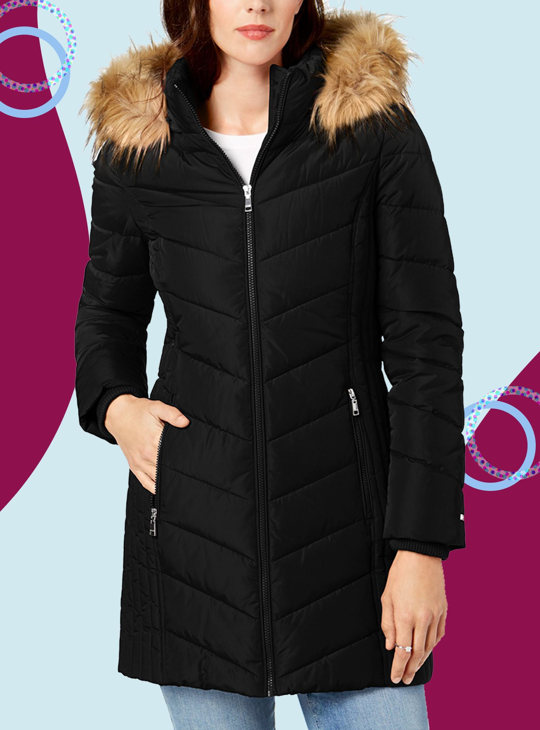 What To Buy At Macy S Black Friday Sale For Yourself Or To Put Under The Tree Puffer Coat Coats For Women Fashion [ 2400 x 1776 Pixel ]